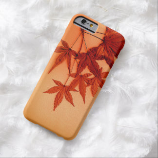 Red Japanese Maple Leaves Barely There iPhone 6 Case