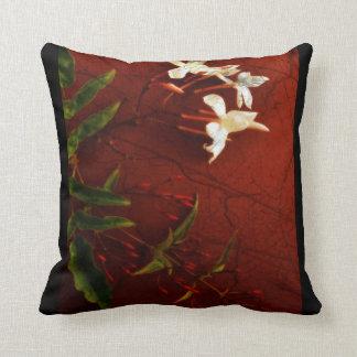Red Jasmine Throw Pillow Cushions