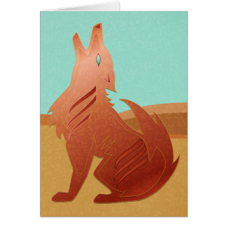 Red Jasper Coyote Card