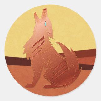Red Jasper Coyote Stickers