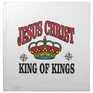 red jc king napkin
