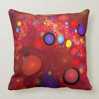 Red Jelly Beans Design Throw Pillow