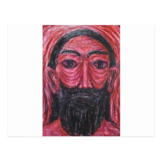 Red Jesus in Gethsemane (  expressionism Jesus ) Postcard