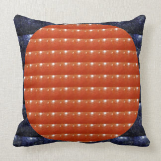 RED Jewels DOTS Circles Round Disc Celebrations Cushion