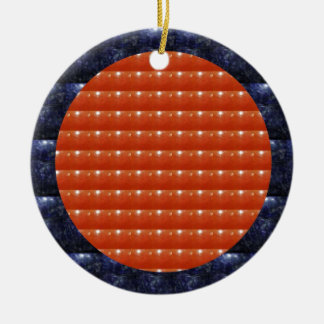 RED Jewels DOTS Circles Round Disc Celebrations Ornament