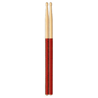 Red jigsaw Sine Waves Drumsticks