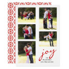 Red joy, photo collage Christmas holiday Card