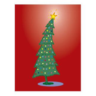 Red Joyeux Noel oh Christmas Tree Postcard