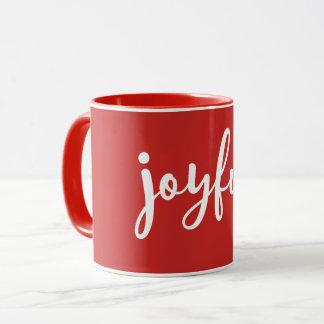 RED   Joyful Modern Holiday Mug