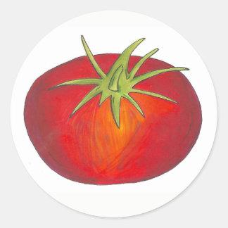 Red Juicy Ripe Tomato Italian Vegetable Garden Classic Round Sticker