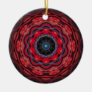 Red Kaleidoscope Christmas Ornament