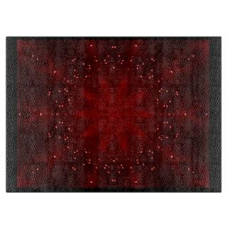 Red Kaleidoscope Cutting Board