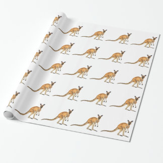 Red Kangaroo In Side View Wrapping Paper