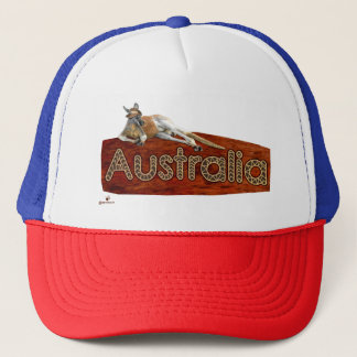 Red Kangaroo In Slouch Hat