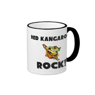 Red Kangaroos Rock Ringer Mug