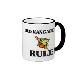 RED KANGAROOS Rule! Ringer Mug