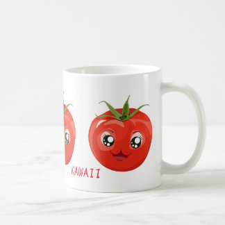 Red kawaii tomato White Mug
