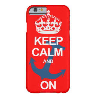 Red Keep Calm and Carry On Sailng iPhone 6 case Barely There iPhone 6 Case