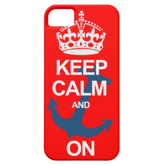 Red Keep Calm and Carry On Sailng iPhone Case