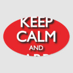 Red Keep Calm And Carry On Sticker