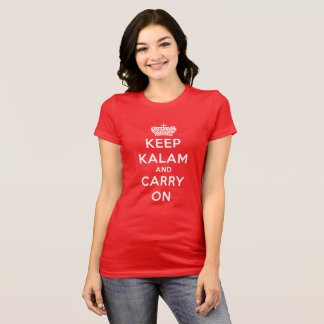 Red Keep Calm Kalam And Carry On Women's T-Shirt