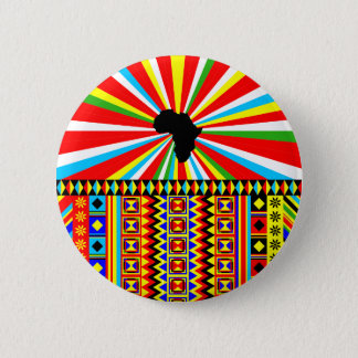 Red Kente Cloth Pattern African Print 6 Cm Round Badge