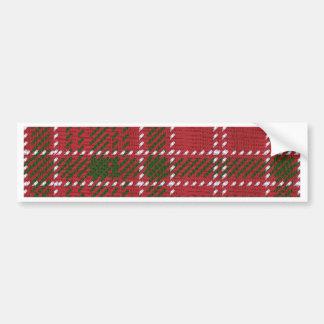 Red Kilt Tartan Bumper Sticker
