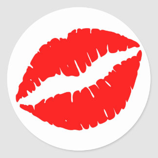 Red Kiss Classic Round Sticker