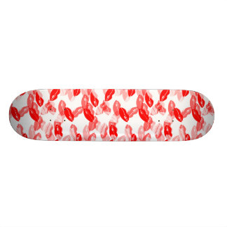 Red Kiss Love Lips Design Skate Boards