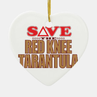 Red Knee Tarantula Save Ceramic Heart Decoration