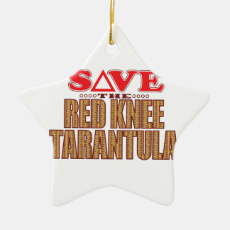 Red Knee Tarantula Save Ceramic Star Decoration