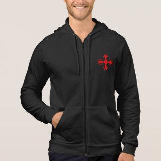 Red Knights Cross - Men's Fleece Zip Hoodie