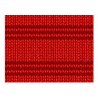 Red Knit Postcard
