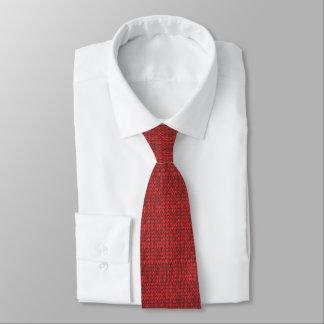 red knit tie