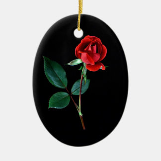 Red Knockout Rose Christmas Ornament