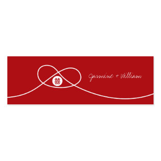 Red Knot + Double Xi Custom Thank You Gift Tag / Business Cards