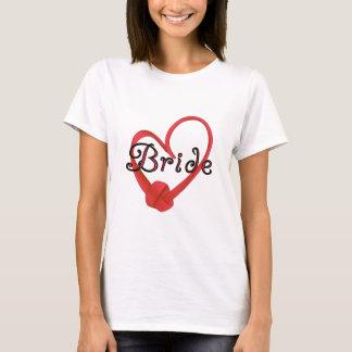 Red Knot Heart Bride T-Shirt
