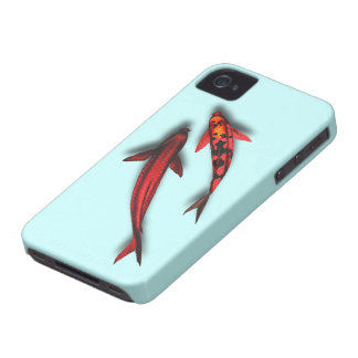 "Red Koi Fish Blackberry Bold ""Barely There"" Case-Mate iPhone 4 Cases"