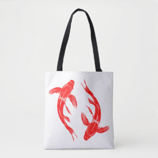 Red Koi Fish Carp Tote Bag