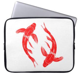 Red Koi Fish Laptop Sleeve