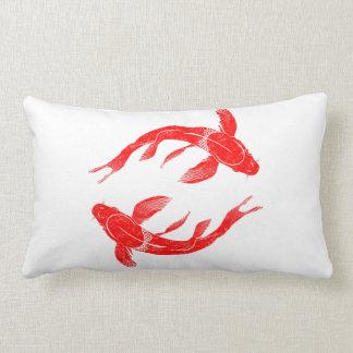 Red Koi Fish Lumbar Cushion