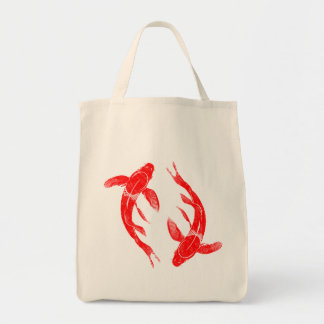 Red Koi Fish Tote Bag