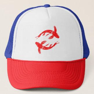 Red Koi Fish Trucker Hat