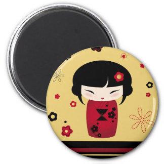 Red Kokeshi Magnet