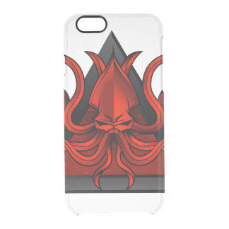 red kraken illustration clear iPhone 6/6S case