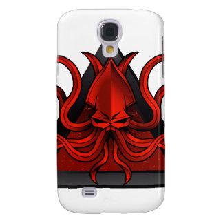 red kraken illustration galaxy s4 cover