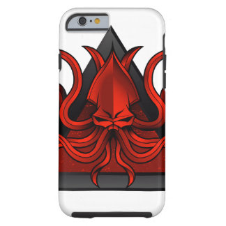 red kraken illustration tough iPhone 6 case