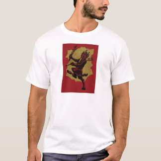 Red Krampus Pitchfork Switch Tongue T-Shirt