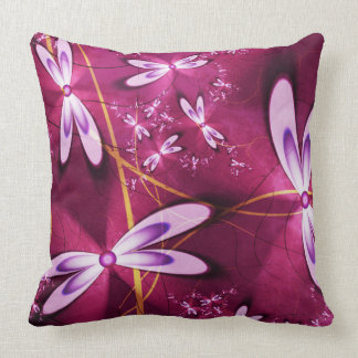 Red Kuschelkissen with blooms Cushions