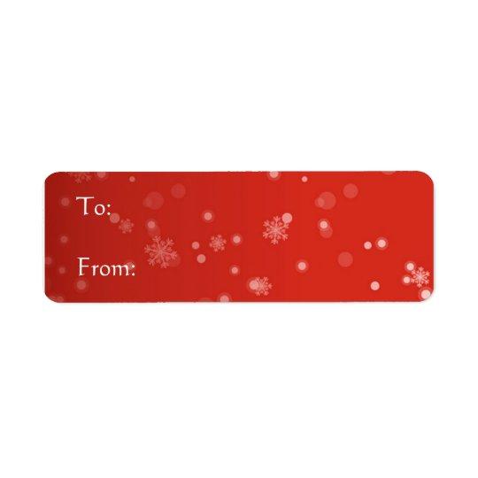 Red Label - Snowflakes Return Address Label